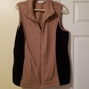 Denim & Co Fleece vest xl